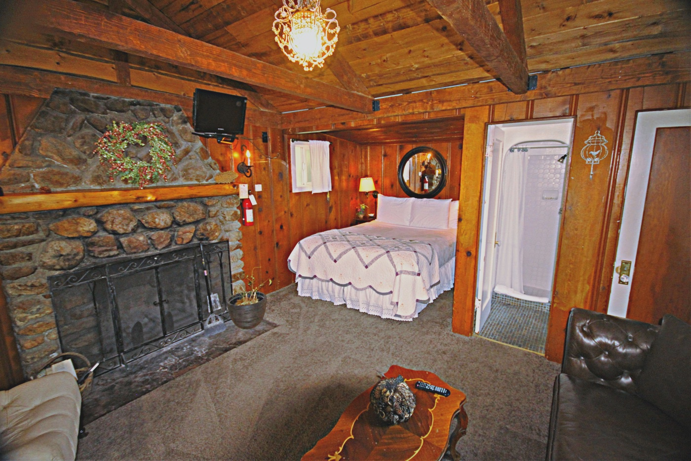 Cabin #8   One Room Cabin, Queen Size Bed (close To Music Stage U0026 Patio)  1Sun, Mon, Tues, Wed, Thu, $125 Per Night Night Fri , Sat $145 Per Night